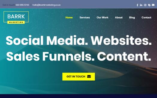 Barrk website portfolio