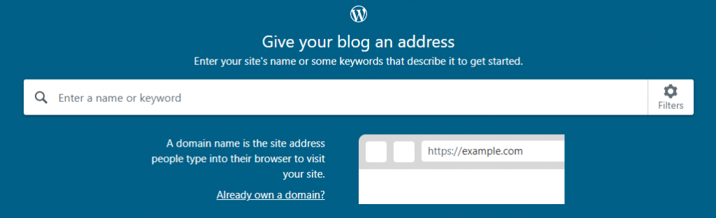 How to Start a Blog - blog address